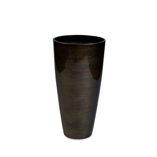 Vita Stripes Vase Bronze