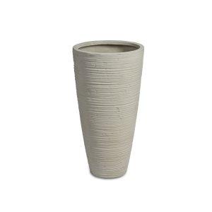 Curved Vase White
