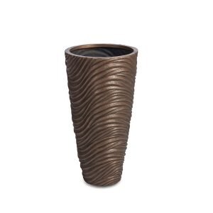 Graphic Vase Bronze