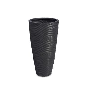 Graphic Vase Dark Grey