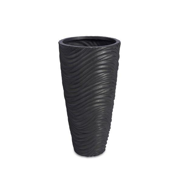 Graphic Vase Dark Grey